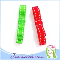 Baby Hair Clip Barrette,Alligator Clips with Grosgrain Ribbon ,Toddler Girl Hair Accessories Hair Bow