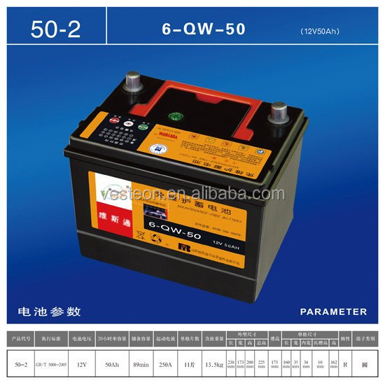 europe car battery for Europe market hot sale