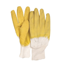 Knit Wrist Drill Lining CE EN388 Working Gloves Latex Coated Open Back Electrical Safety Gloves