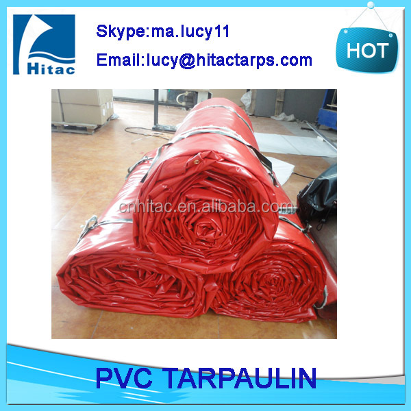 waterproof pvc coated polyester fabric tarpaulin truck cover