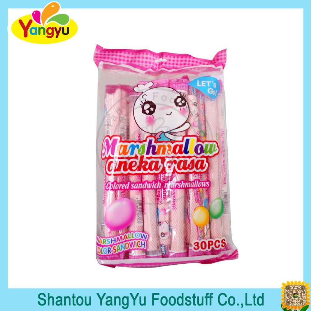 30pcs colourful sandwich marshmallow with jam