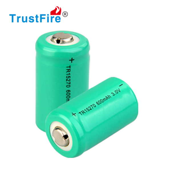 3.0V rechargeable CR2 15270 600mAh battery