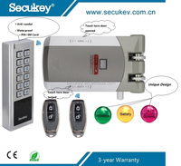 Battery Operated Door Lock System Kit Wireless Keypad Access