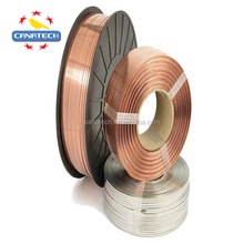 Customized 16# 17# 18# 20# copper coated galvanized flat wire stitching