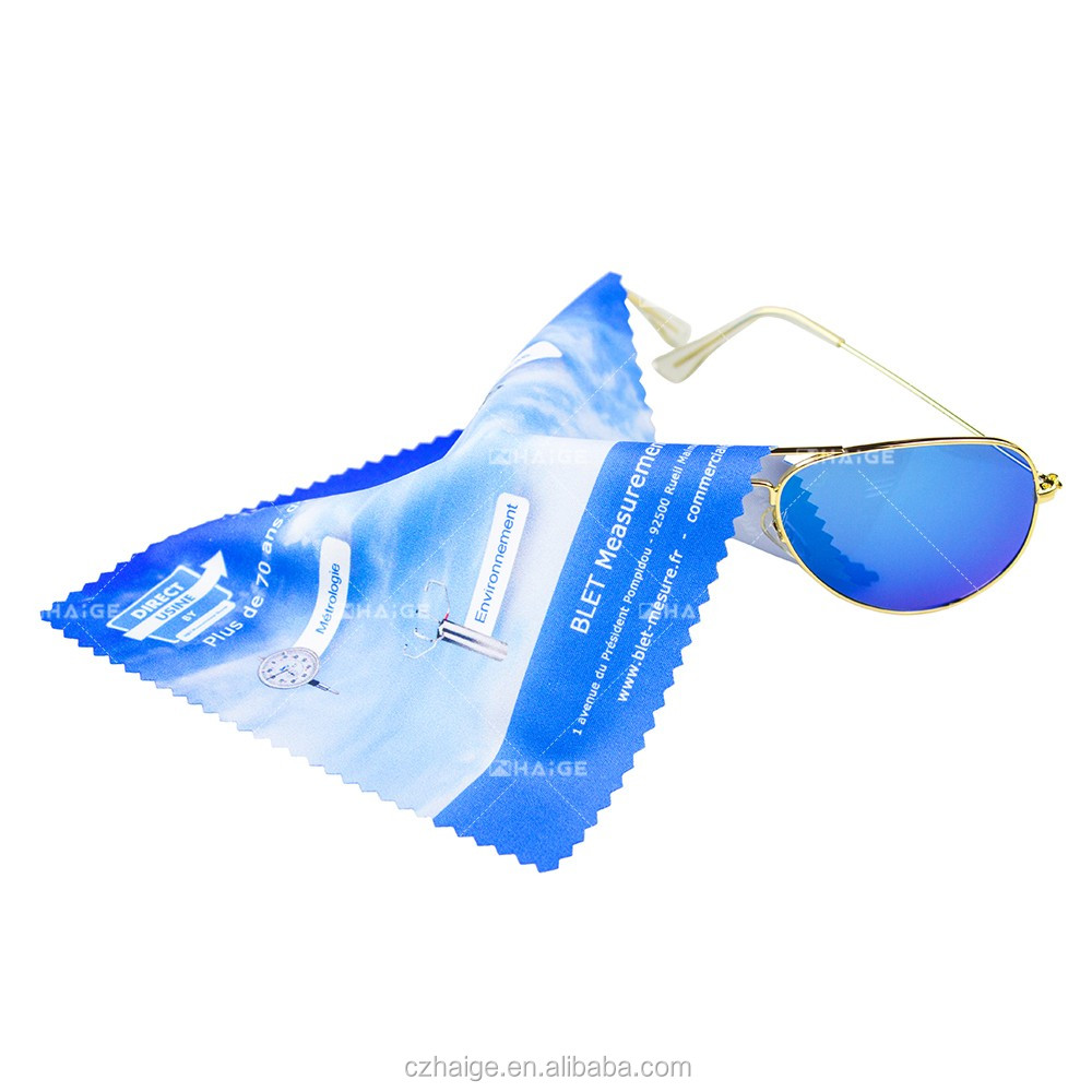 Silk Screen Printing Eyeglasses Microfiber cleaning cloth
