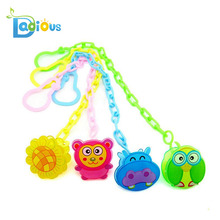 Funny Baby Feeding Plastic Cartoon Baby Pacifier Clip For Baby Safety Products