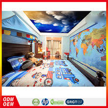 Star design moonlight ceiling wallpaper mural starry night sky image ceiling decoration murals