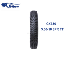 Motorcycle Tubeless Tyre Rubber China 3.00-18