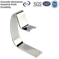 Custom chrome plated retaining clip hardware u shaped bracket
