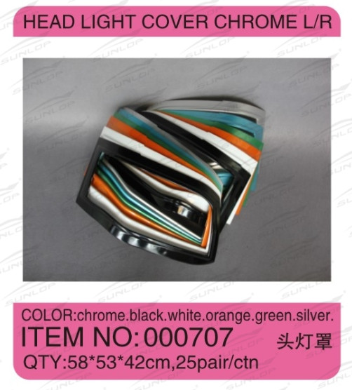 For for hiace spare parts KDH hiroof for hiace head light cover chrome #000707 commuter hi ace kdh200