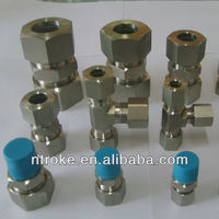 stainless steel o ring pipe fittings, double ferrule compression fitting