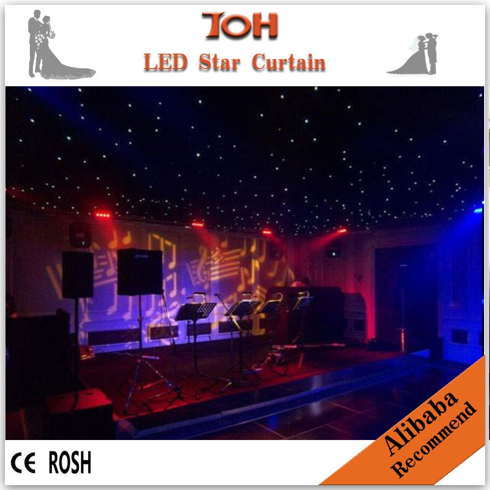 Digital Star LED Light Lamp Curtain Cloth Backdrop <strong>RGB</strong> Multi-Color for Disco DJ Club Wedding Party Christmas Birthday Home Garde