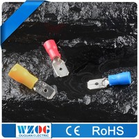 MDD 22-16 16-14 12-10 AWG Insulated Male Battery Terminal Cover , Wire Terminal connector