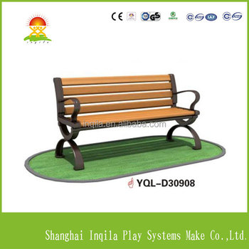 High quanlity outdoor wood park bench