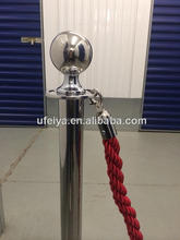 Security equipment chrome rope barrier post