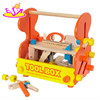 New and popular wooden tool box toy for kids,wooden toy tool box for children,DIY wooden tool box for baby WJ279134