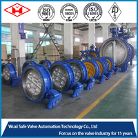 ANSI Double Eccentric Double Flange Electric Actuator Butterfly Valve