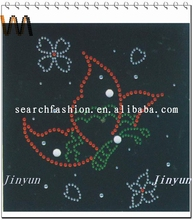 wholesales and DIY hot fix butterfly rhinestone transfer sticker for apparl decoration