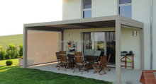 modern backyard pergola aluminium shutter pergola with roof