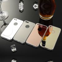 High-end Atmosphere Mirror Slim Cell Phone Case For Apple iPhone 5 5S Soft Silicone Frame Protect Back Cover