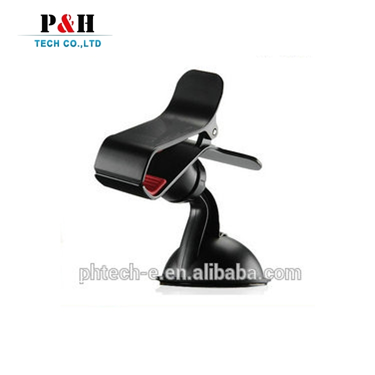 Unique Design With Dual Clip Clamp 360 Degree ABS Windscreen Universal Phone Car Mount