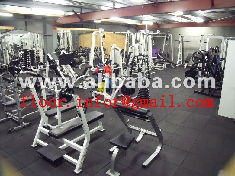 Fitness center rubber mat
