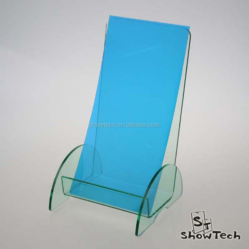 Customized design acrylic literature display stands display racks for pamphlet