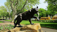 new product garden decor bronze panther statue