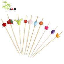 2018 Popular bbq bamboo skewer decorative fruit skewer for party