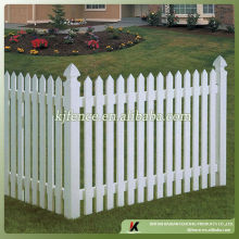 PVC white picket fence