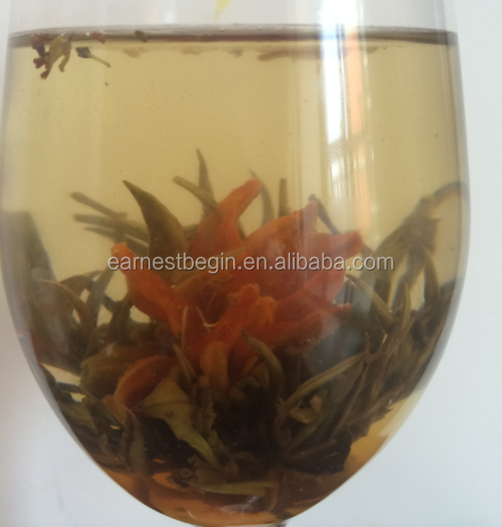 100% Handmade Blooming Flower Tea with calendula and Osmanthus Flower