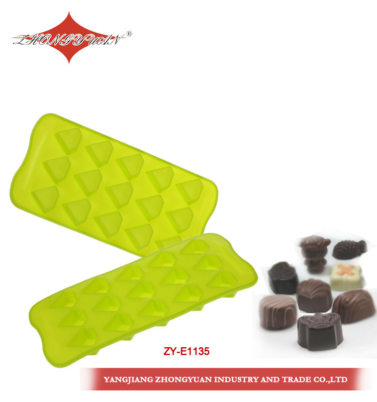 cake decorating 15 cavities diamond shaped silicone cake mold