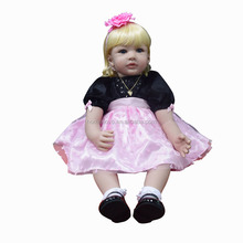 China Manufacturer Wholesale Lifelike Realistic Alive Real 22 Inch Soft Silicone Girls Reborn Baby Doll