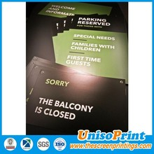 Hanging plastic signs for outdoor, open/close/welcome signs board