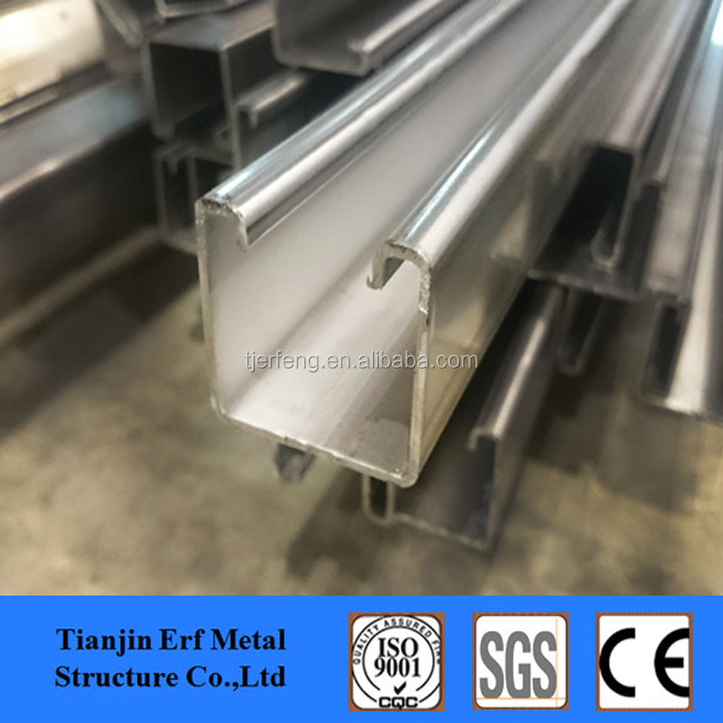 hot dip galvanized stainless slotted carbon steel unistrut C CHANNEL steel price