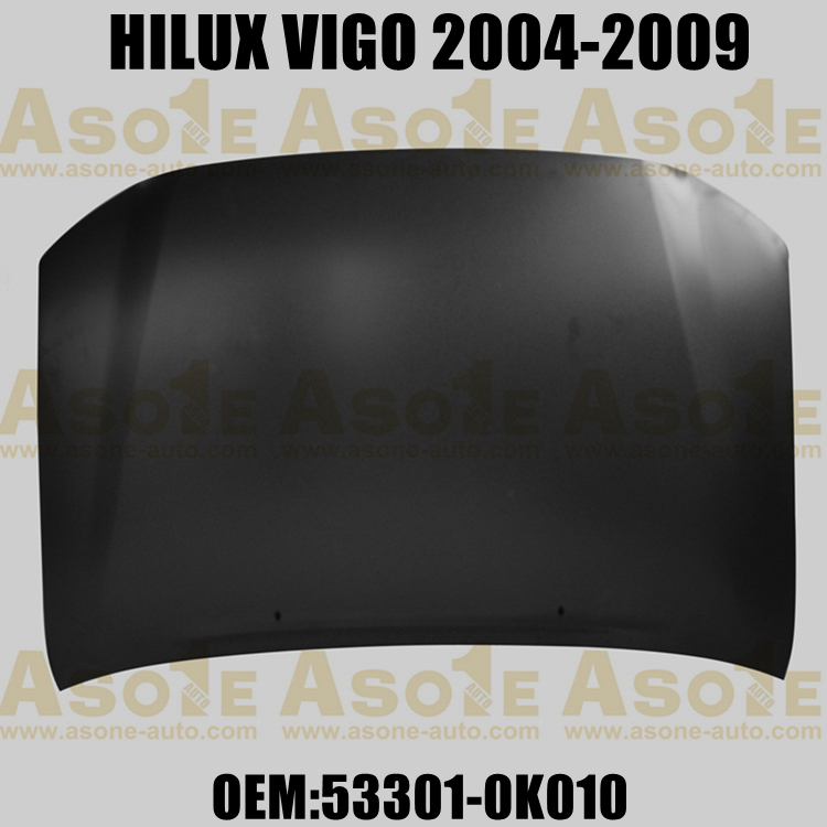 REPLACEMENT CAR ENGINE HOOD WITHOUT HOLE FOR TOYOTA HILUX VIGO 2004-2009