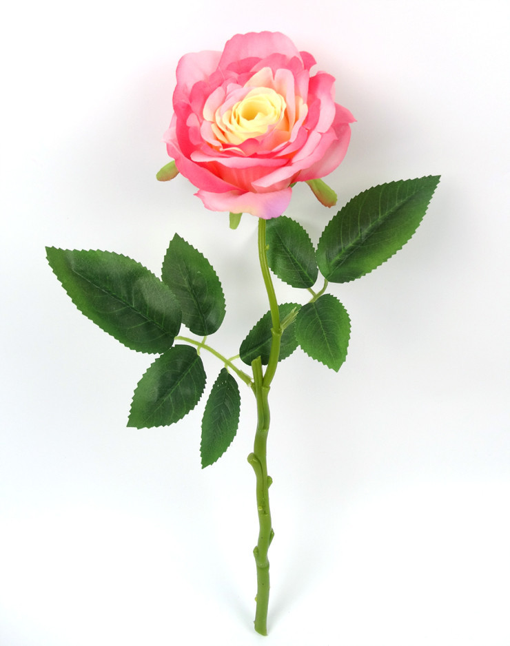 High Quality Artificial Flower Rose Stem Single Rose Flower Hand Made FlowerDecorative A-X-G15