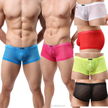 Sexy Breathable Striped Man Underwear Boxer Shorts Trunks UnderPants