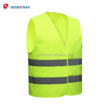 Wholesale 100% polyester knitted fabric fluorescent reflective safety vest