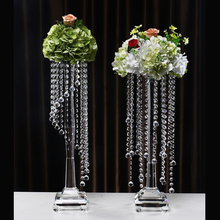 Top selling wedding center table crystal flower stand for decoration