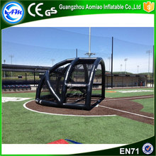 2017 Hot new design inflatable baseball batting field inflatable batting cage for sale