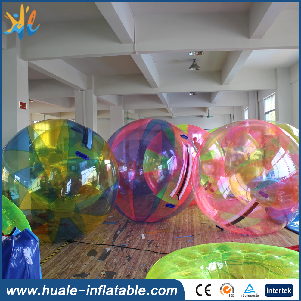 TPU/PVC colorful water walking ball price, walking ball for sale