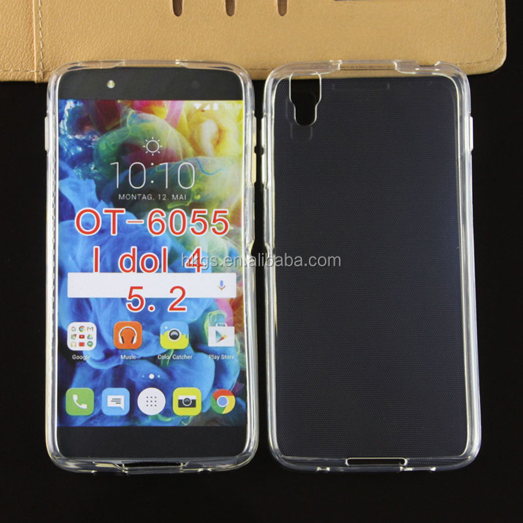 Cambodia Export Products Full Clean Crystal Tpu Back Cover Case For Alcatel One Touch Idol 4 OT-6055 6055 6055B/H/I/<strong>K</strong>/Y