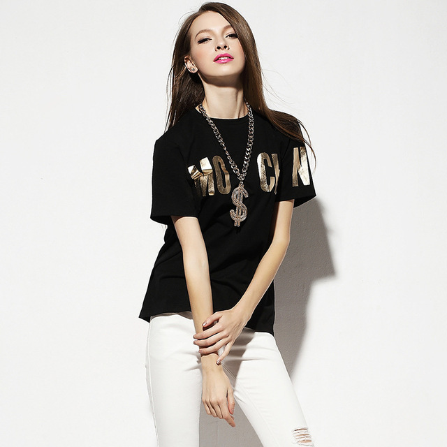 manufacturer china 2016 new trend fashion Sequin T-shirt
