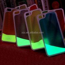 China supplier liquid fluorescent light up phone case for samsung galaxy s5