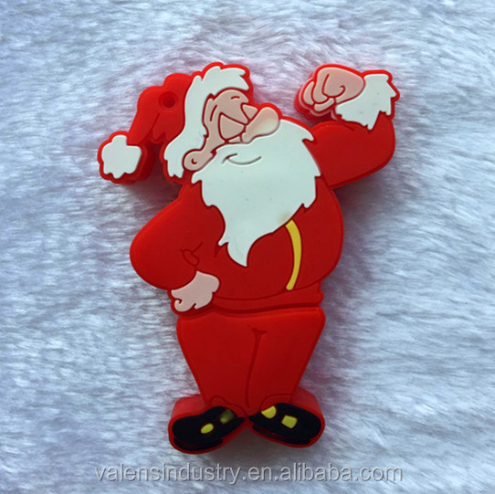 Promotional Customized Design Bulk Santa Claus Shape Santa Claus Christmas USB Flash Drive