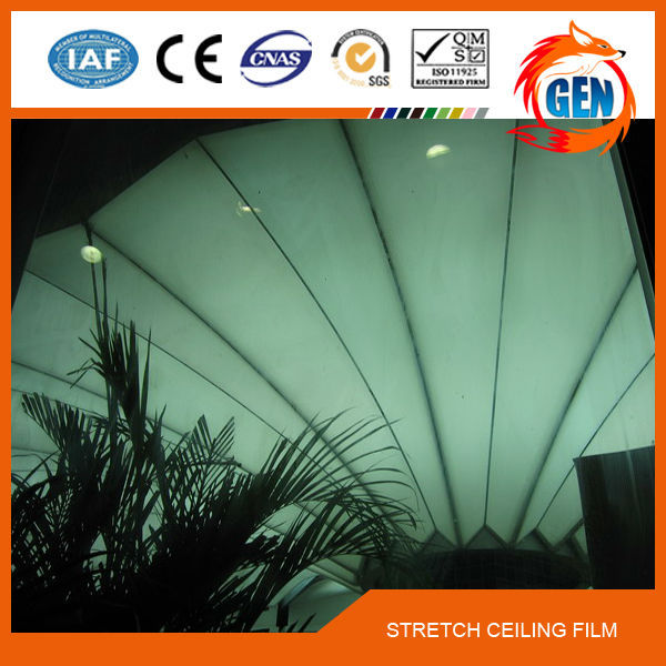 15 years quality guarantee fireproof & waterproof 1.5-5.0M width pvc decorative Film for Decor plaster ceilings houses