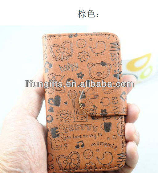 PU Leather phone case for i phone 5