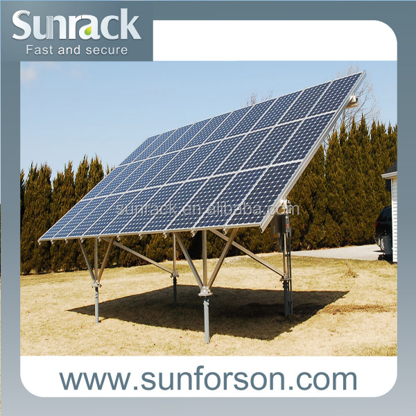 Aluminum PV Panel Ground Mounting Solar System with Ground Screw Pile