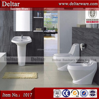 Best selling products in saudia, one piece toilet with pedestal basin, white colour smooth wc